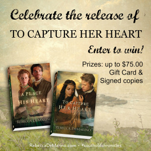 To Capture Her Heart By Rebecca DeMarino Giveaway party